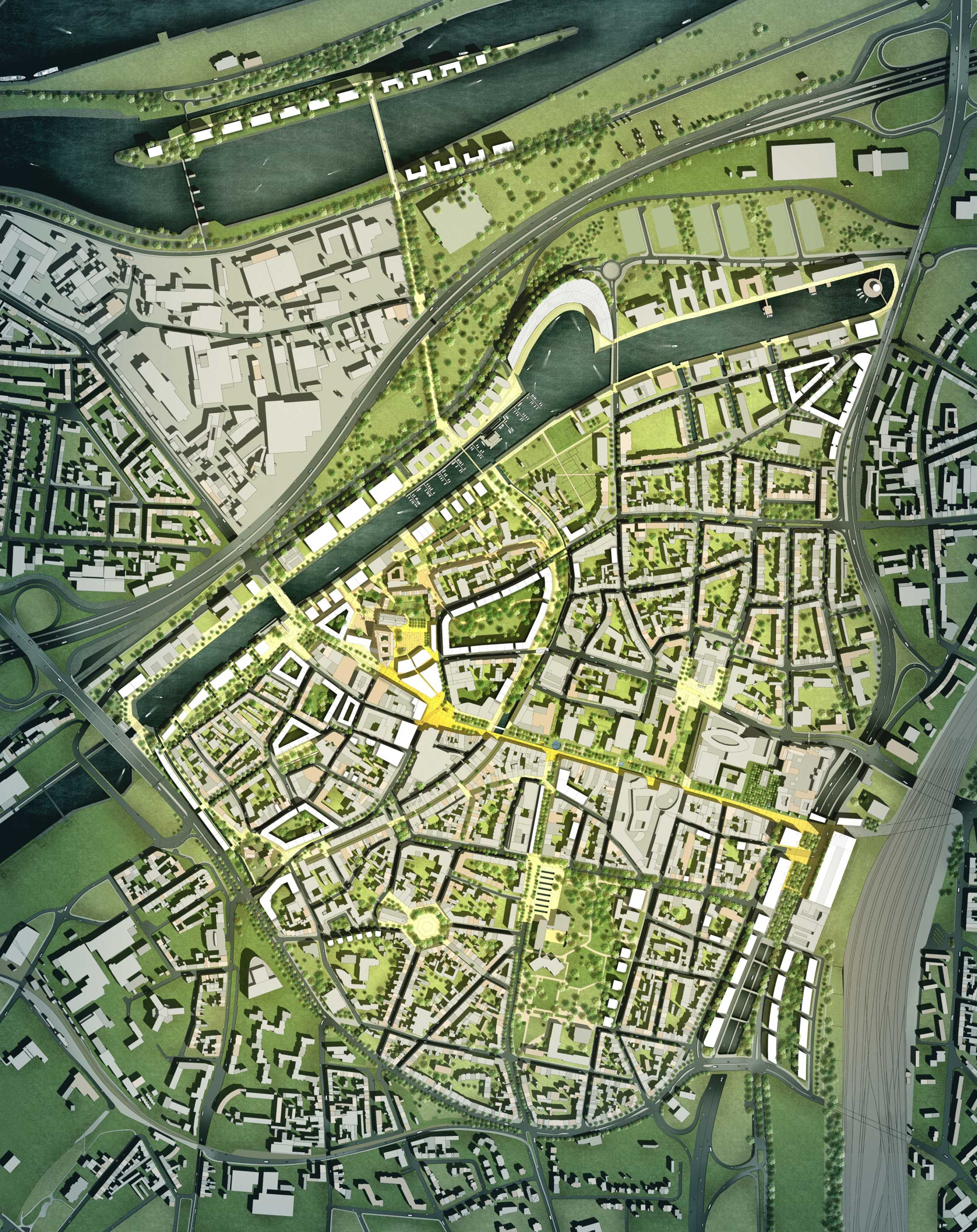 Duisburg City Masterplan Projects Foster Partners Foster