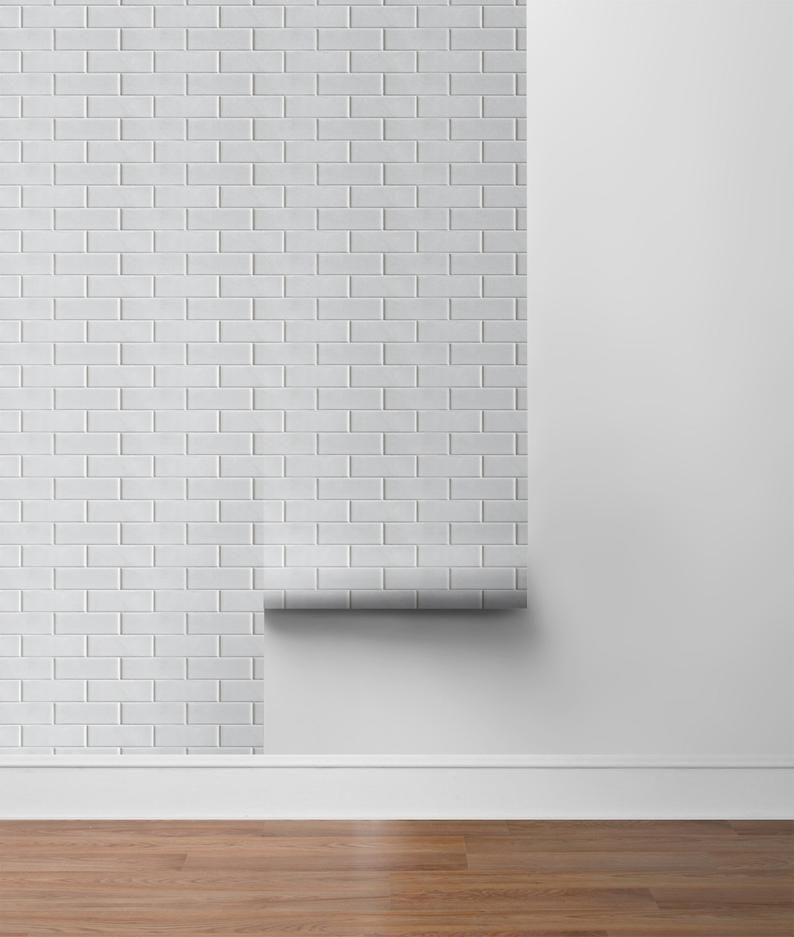 Peel And Stick Self Adhesive Wallpaper Wallpaper Subway Etsy Self Adhesive Wallpaper Removable Brick Wallpaper Stick On Tiles