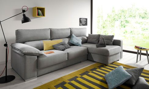 Decorar la sala con un sof chaiselongue sof theo de for Kibuc sofas