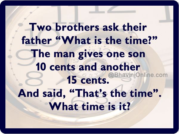 Whatsapp Riddle What Time Is It
