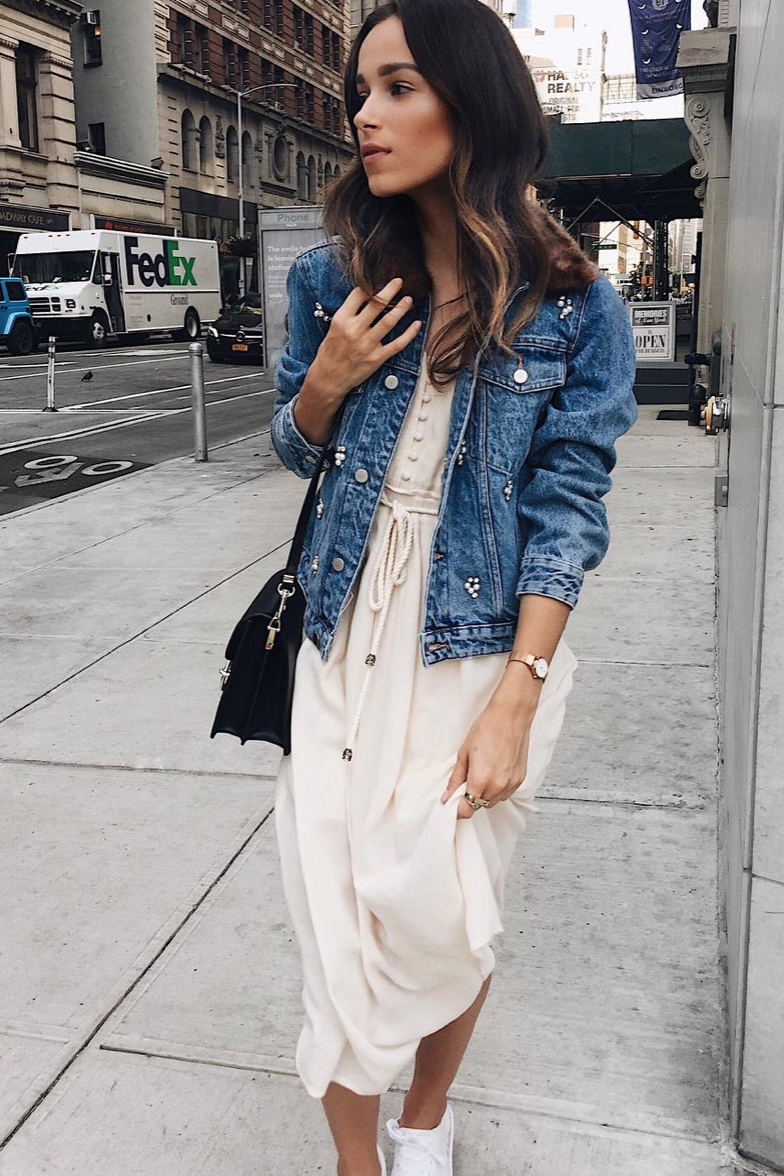6d4288c531 15 Chic Looks to Try When It's Cold Out This Summer | dresses ...