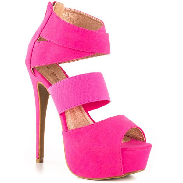 Shoe Republic Women's Edna - Fuchsia ($55) ❤ liked on Polyvore featuring shoes, pumps, fuschia shoes, fuschia pumps, stiletto heel pumps, high heel pumps and heels stilettos