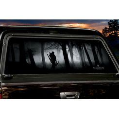 Gone Thinking Window Tint Chevy Dodge Dakota And Vehicle - Rear window hunting decals for trucksdeers in a forrest bw window graphic tint decal sticker truck