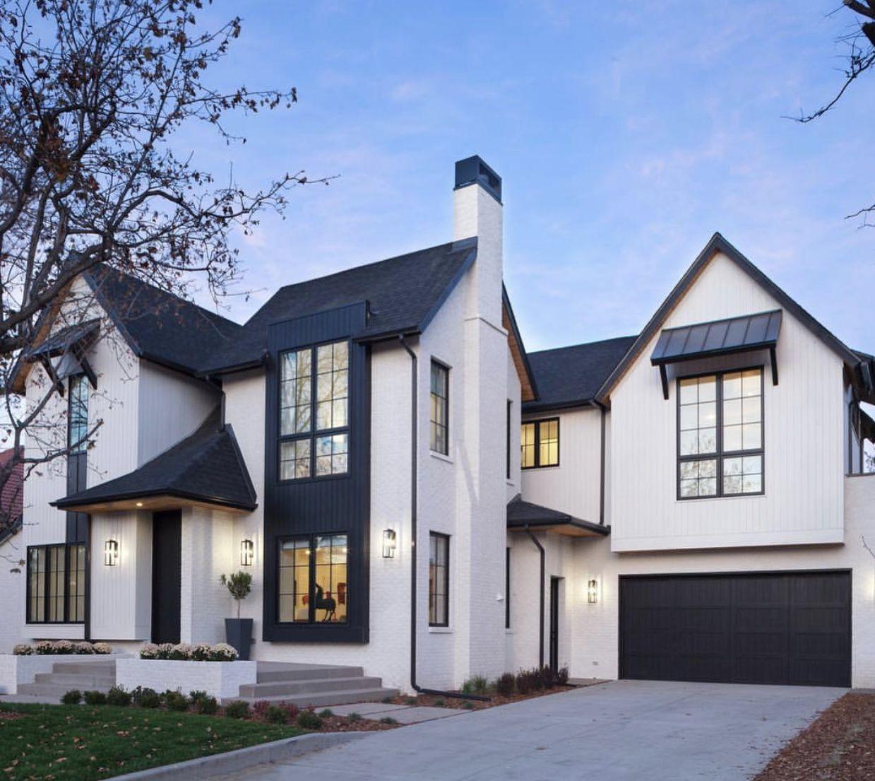 Black And White Home Exterior Modern Farmhouse Exterior