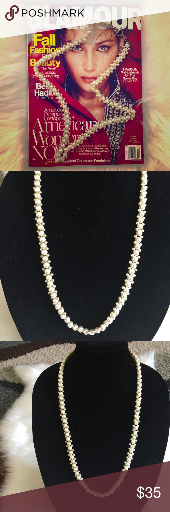 🌟Necklace 🌟 Beautiful handmade single strand faux pearl necklace. Jewelry Necklaces