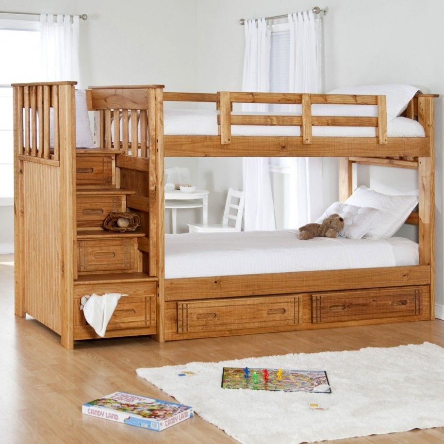 Practical Twin Bunk with Simple Red Metal Frame Twin Bunk Beds ...