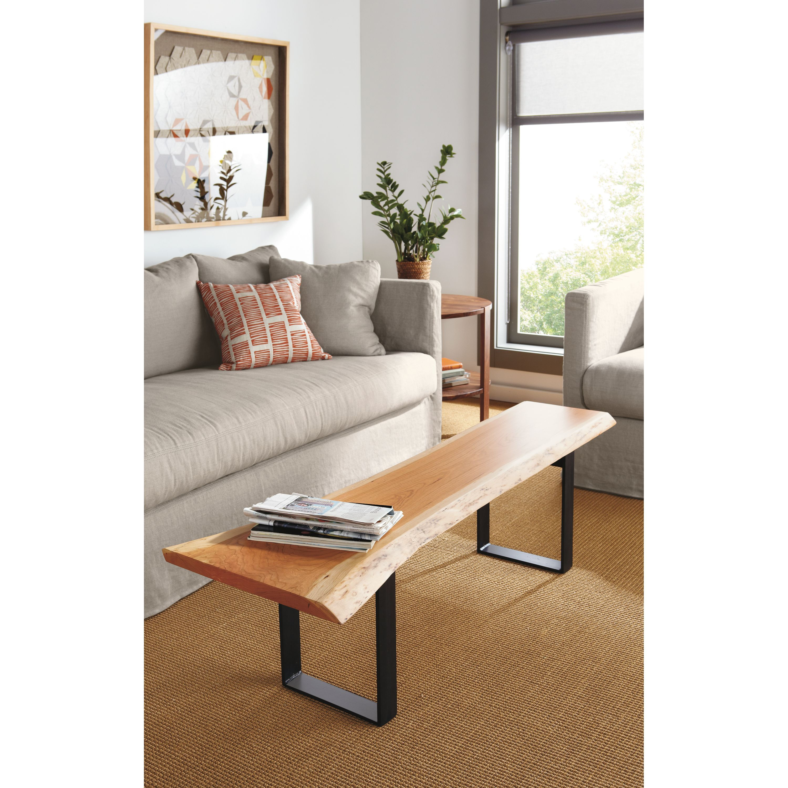 Chilton Bench in Cherry - Modern Benches, Stools & Ottomans - Modern Living Room Furniture - Room & Board