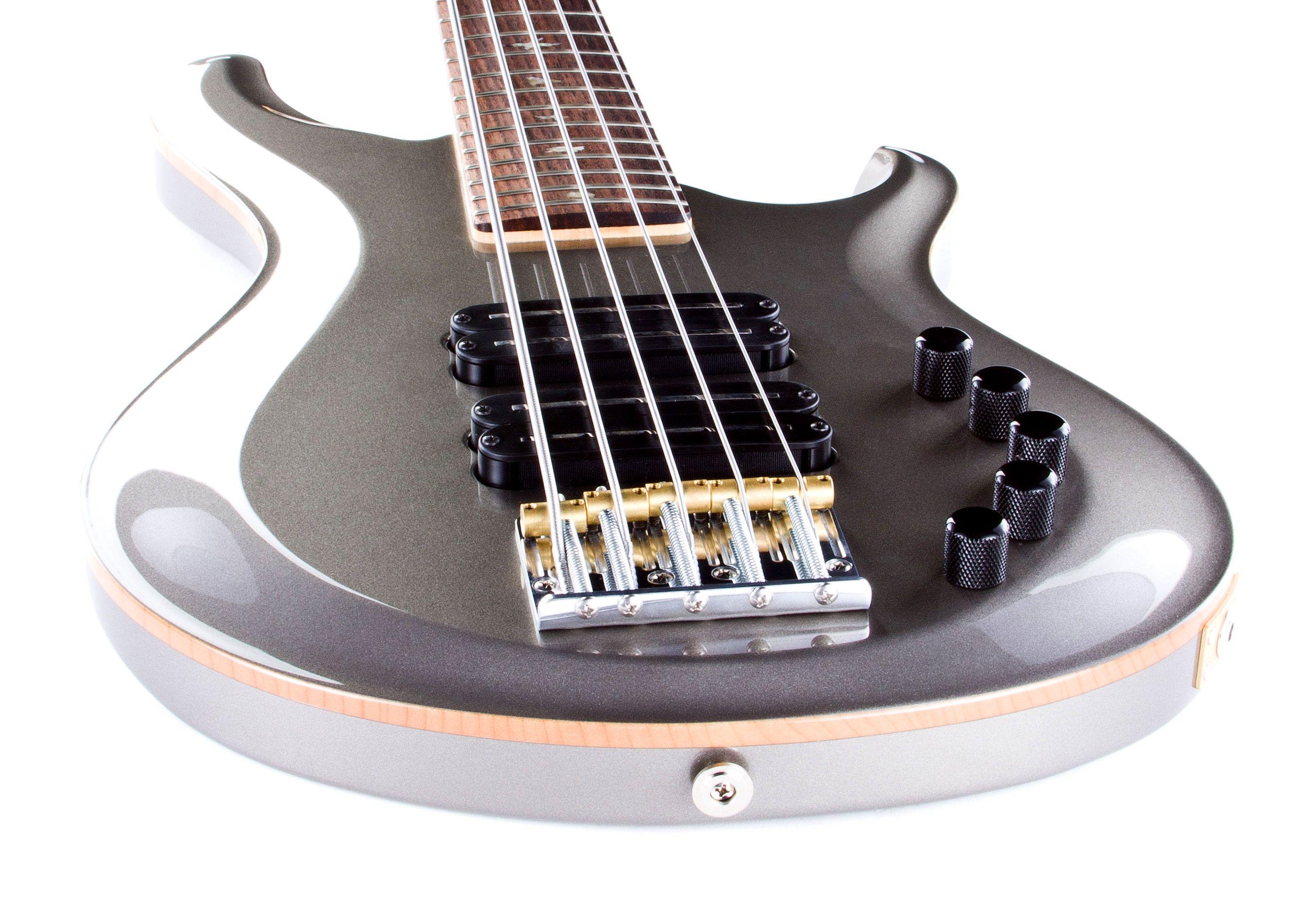 PRS Gary Grainger 5 String Bass in Custom Color Pewter