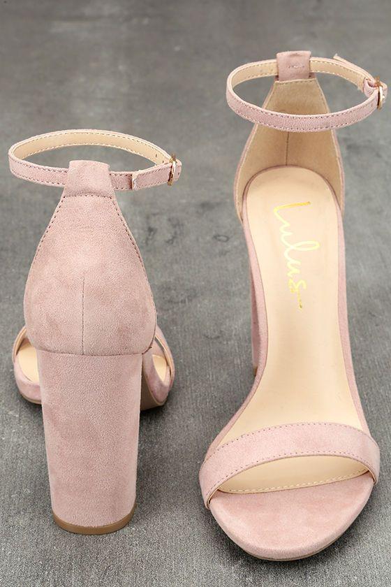 Taylor Blush Suede Ankle Strap Heels   Tacones, Zapatos