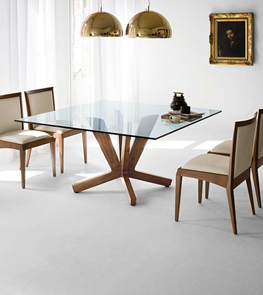 Square Gl Top Dining Table For 8