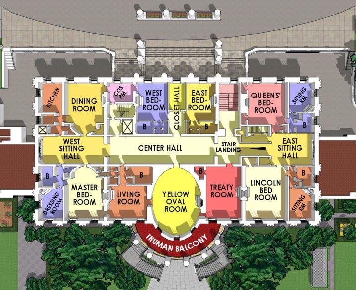 Second Floor The White House White House Plans White House Interior Inside The White House White house floor plan living quarters