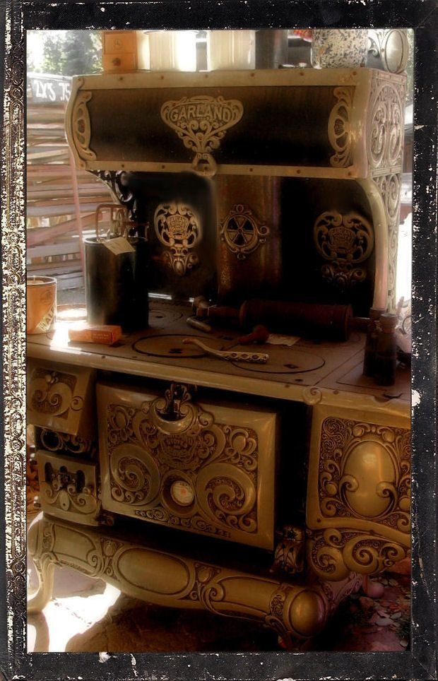 1800's Garland Stove. #kitchen #range Good Idea to take over ...