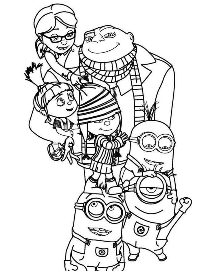 Kids Cartoon Despicable Me Coloring Pages In 2020 With Images Minion Coloring Pages Disney Coloring Pages Coloring Pages
