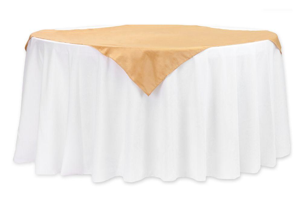 Taffeta Table Overlay Topper 54 X54 Square Gold Table