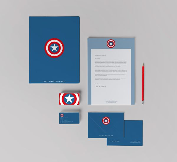 Super hero's stationery on Behance
