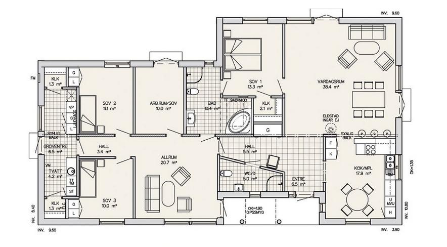 Contemporary Log Living Single storey house plans, Dream