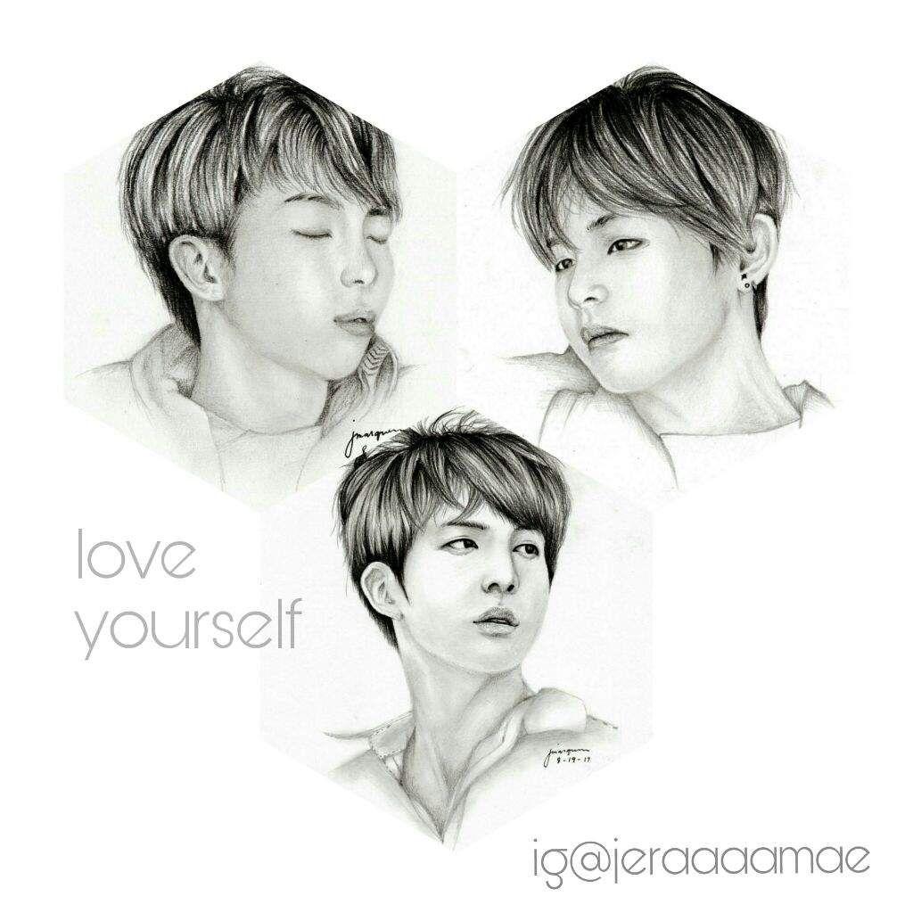 Love Yourself Fanarts Kim Family Army S Amino Kim Love You Male Sketch