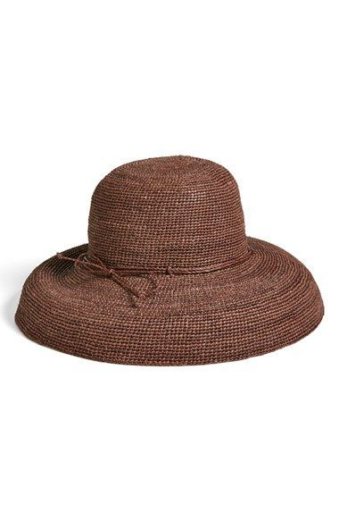 2d6011a86cb75 Free shipping and returns on Helen Kaminski  Provence 12  Packable Raffia  Hat at Nordstrom.com. Rollable and packable raffia sun hat is  hand-crocheted