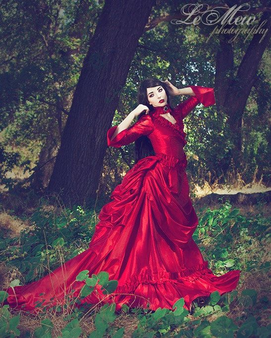 Mina Dracula Victorian Bustle Gown Wedding By