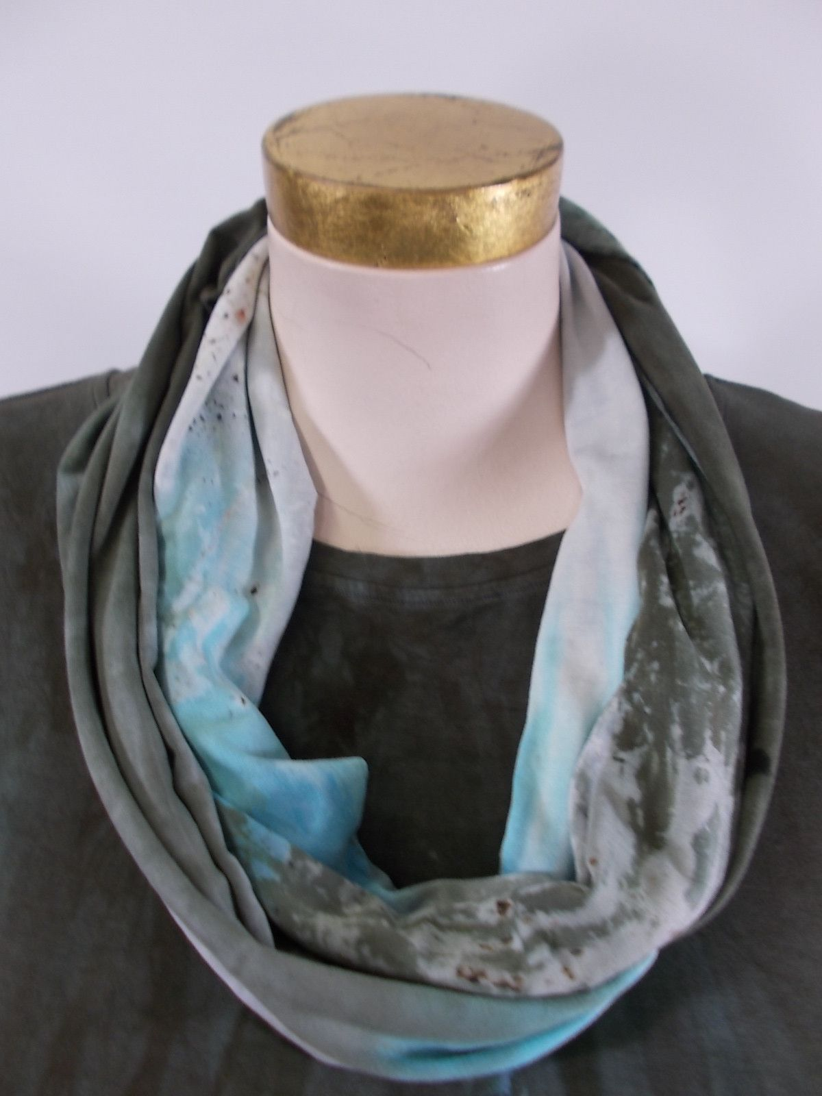 Art of Cloth - Lichen Handpainted Aliya Infinity Scarf