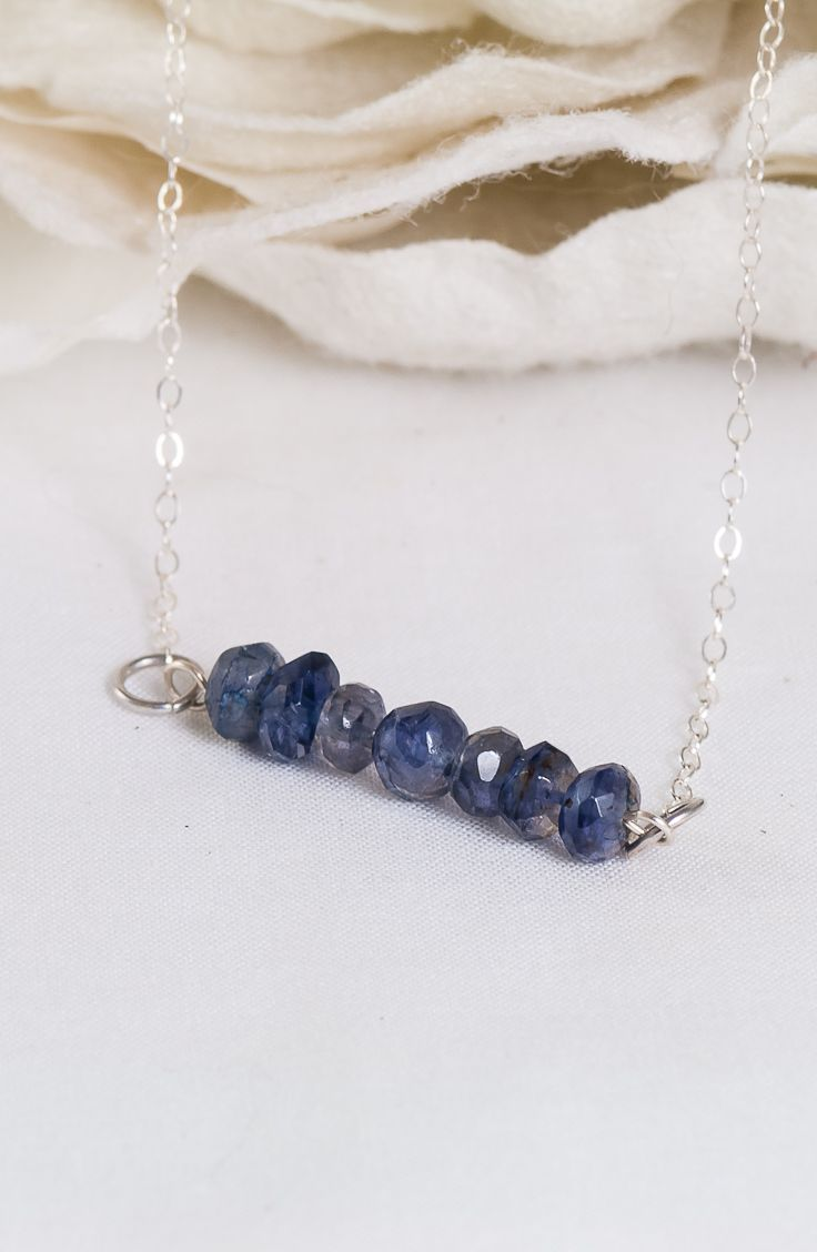 Blue Cashmere – Iolite Sterling Silver Chain Necklace