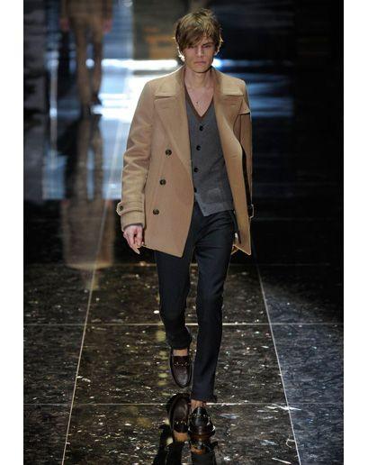 Gucci camel pea coat 11/2010 | Mens Camel Coat Lookbook for 2012 ...