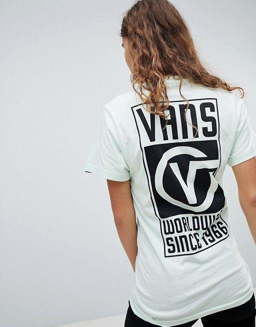 3c27ea85f21bce Vans Worldwide Back Print T-Shirt In Mint
