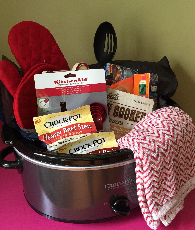 Crock Pot Gift Basket Basket Crock Gift Homedecorbasketraffle Pot Auction Gift Basket Ideas Crockpot Gifts Silent Auction Gift Basket Ideas