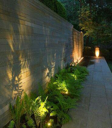 Silhouette Lighting With Images Garden Lighting Design Rustic