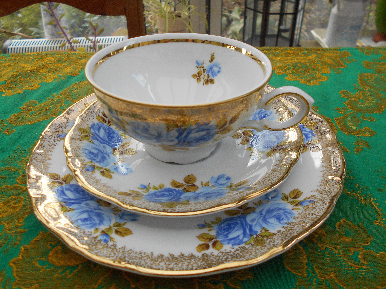 Rosenthal Century blaue Blume Kaffeegedeck 3-teilig