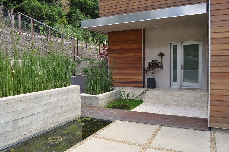 Modern Porch Front Porch Huettl Landscape Architecture Walnut Creek