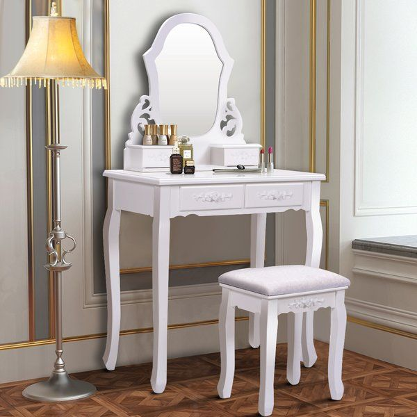 Best Enrico Vanity Set With Mirror Dressing Table With Stool 400 x 300