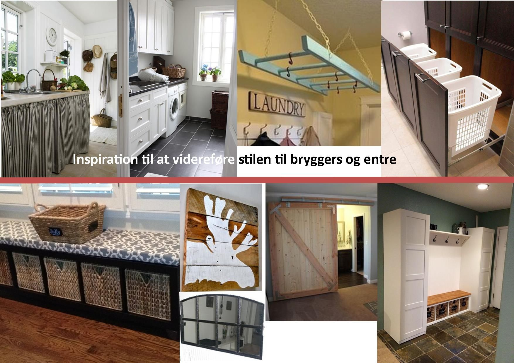 Svensk stil til bryggers og entre