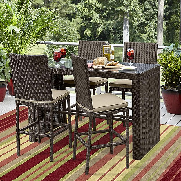 Pennington Patio Furniture.Ty Pennington Parkside 5pc High Dining Set Outside Outdoor
