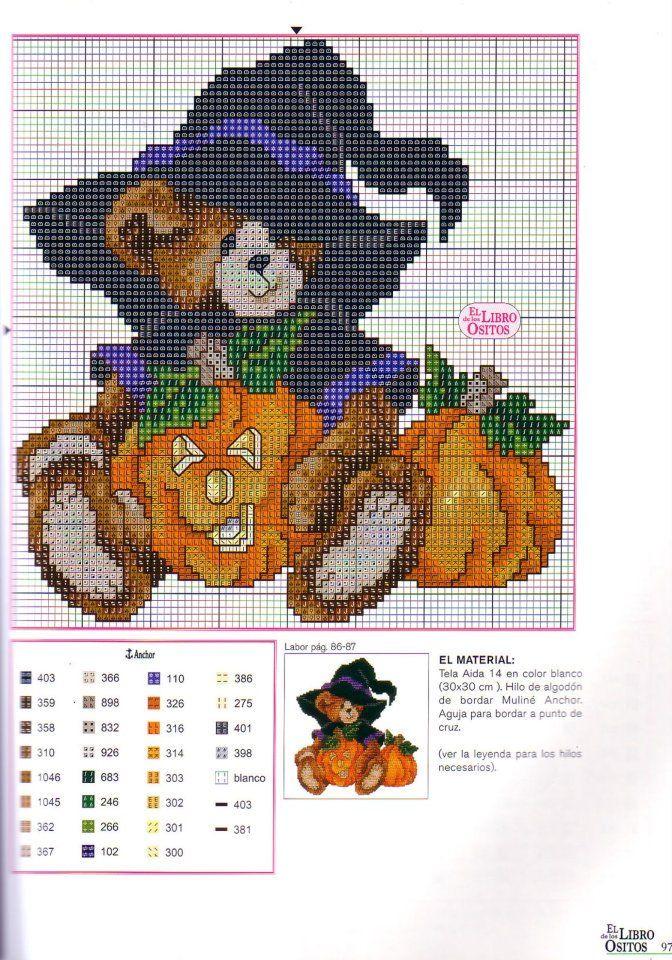 3 Halloween Bear - hs | σταυροβελονια | Pinterest | Bügelperlen ...