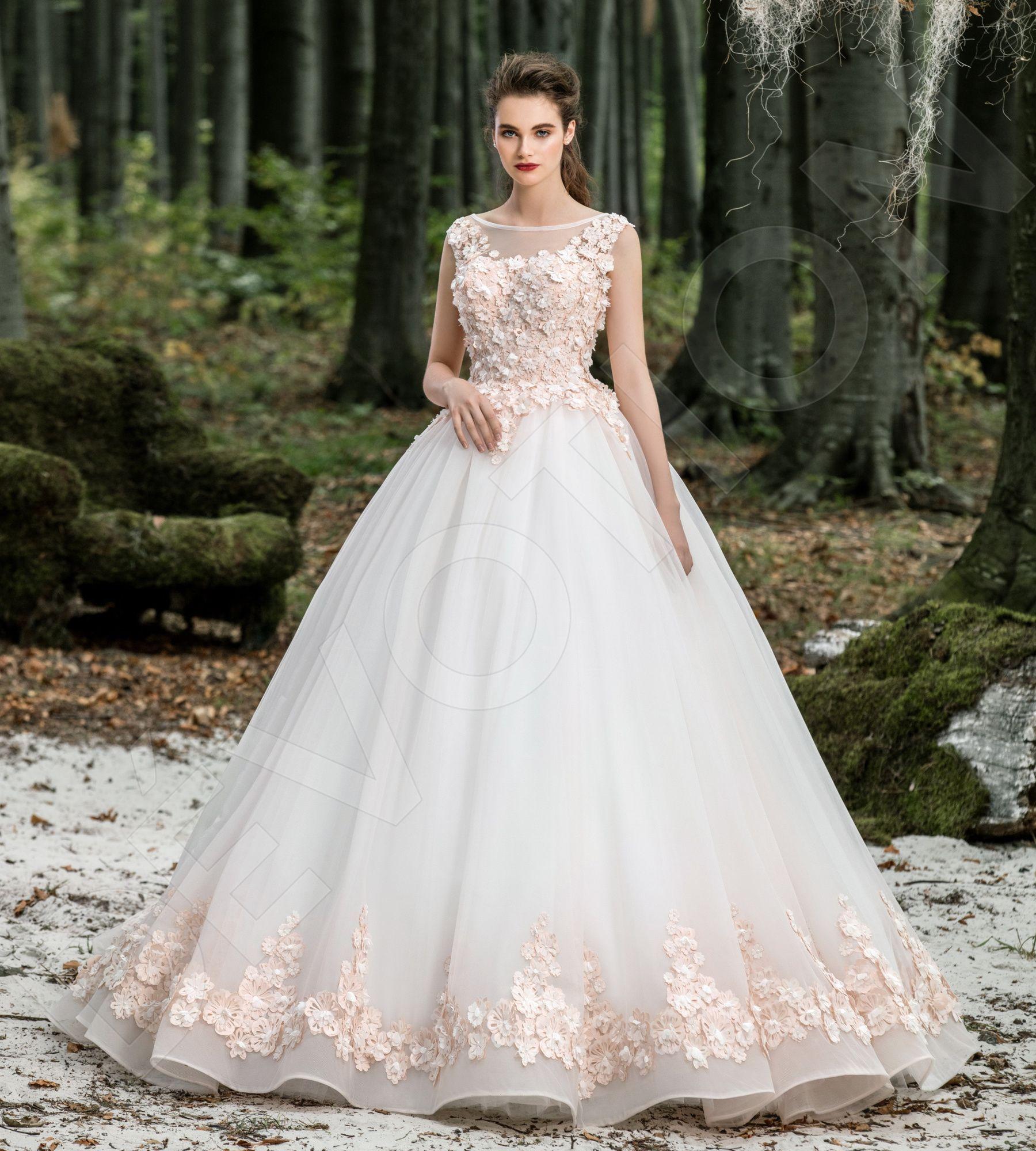 Ambrosia Classic Mesh Wedding dress White / Powder ...