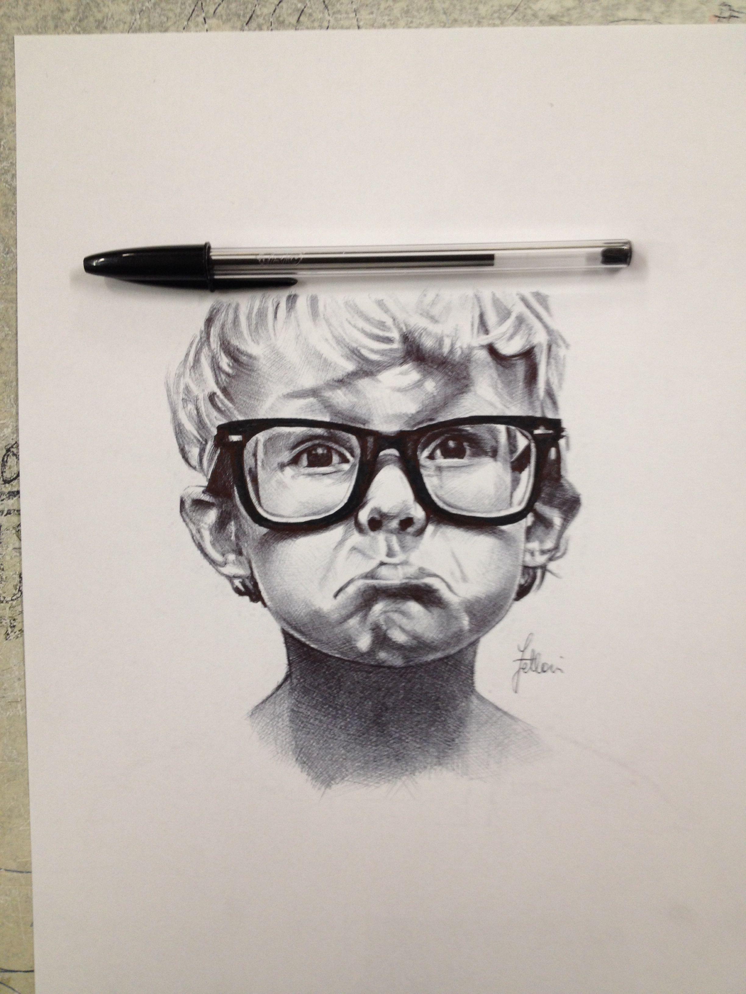 Penna biro ballpoint pen www facebook com felloni art in