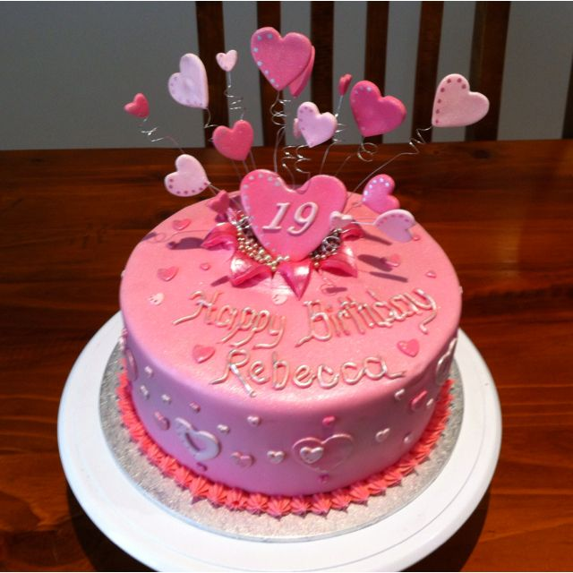 Rebecca's 19th birthday | Piece of Cake! | Pinterest | 19 ...