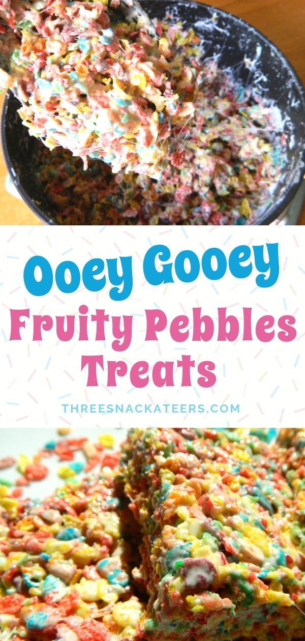 Fruity Pebbles Krispies Treats • The Three Snackateers