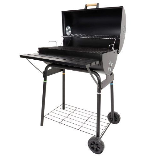 Azuma Barrel Summer Garden Grill Cooking Charcoal Patio BBQ with Wheels NEW is part of garden Patio BBQ - Azuma Barrel BBQ  Provides a traditional method of cooking  Easy to light  Charcoal needs to be lit at least 40 minutes before you intend to cook Storage features such as front shelf and lower rack which are perfect for holding sauces, condiments and plates which make entertaining much easier