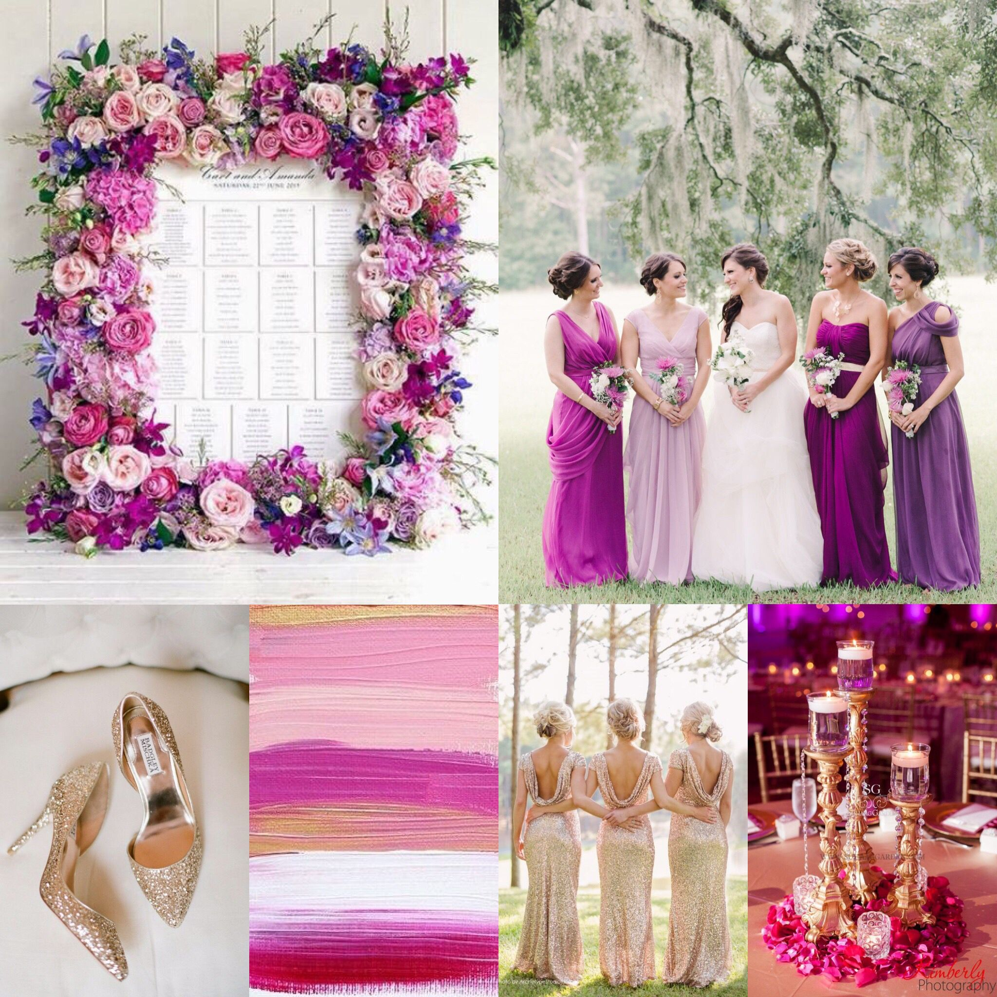 Radiant Orchid/Rose Gold Vow Renewal