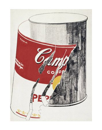 ANDY WARHOL   Torn Campbell's Soup Can, c.1962