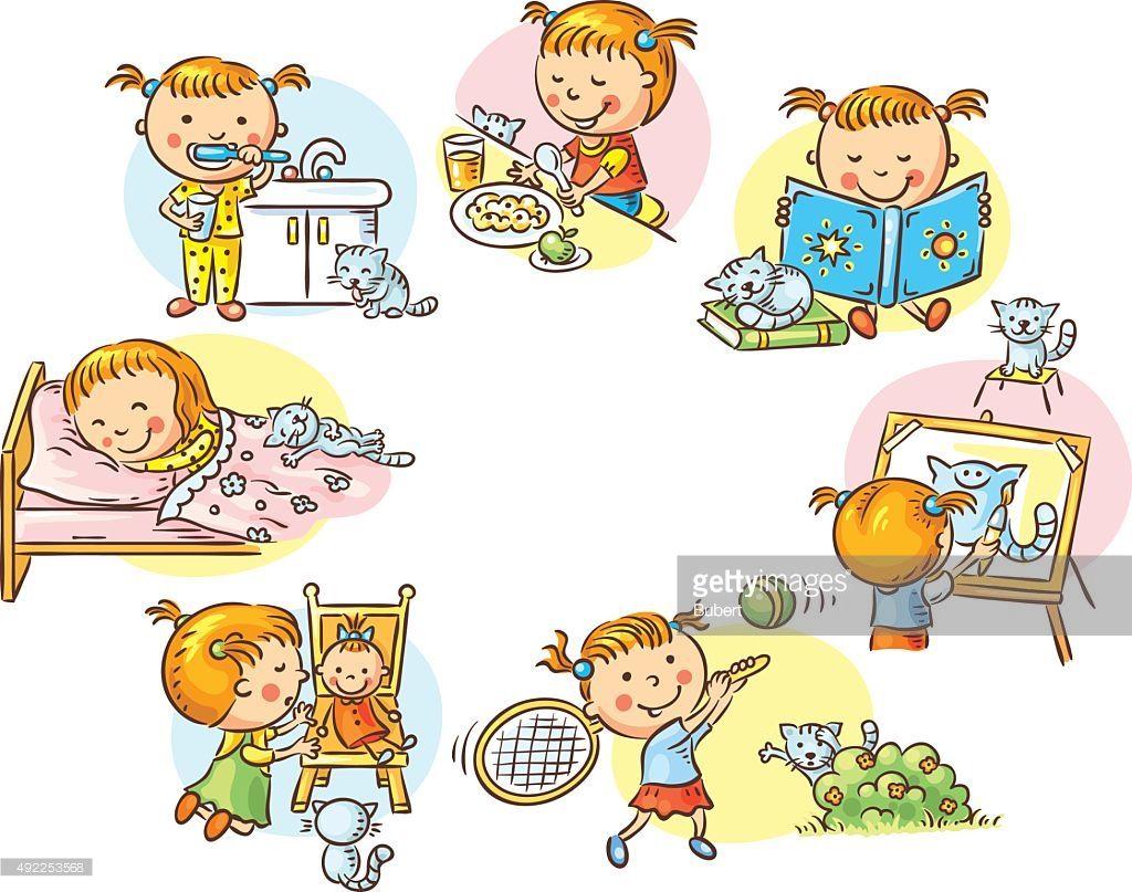 Clipart vectoriel petite fille dessin color et d - Dessin colore ...