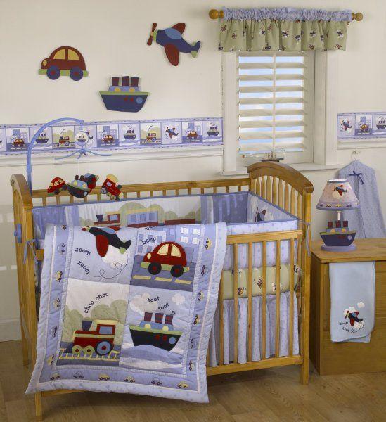 Bedtime Originals Travel Time 4 Piece Baby Crib Bedding Set BlueAmazon