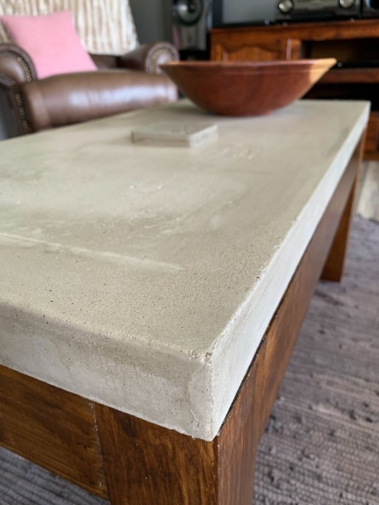 How To Make A Concrete Coffee Table Diy Concrete Coffee Table