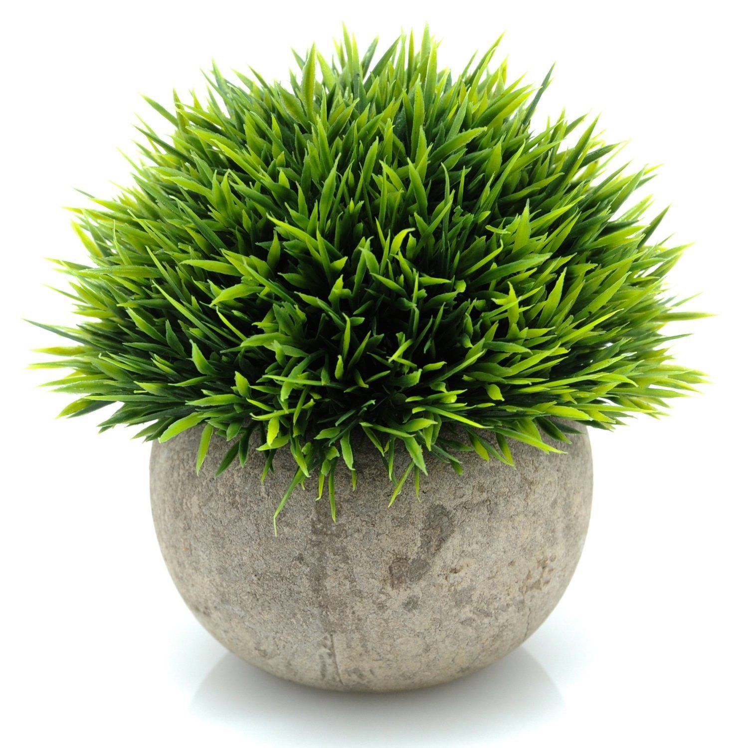 Artificial Potted Ornament Topiary Ball Shape Bonsai Fake Plant Vividly
