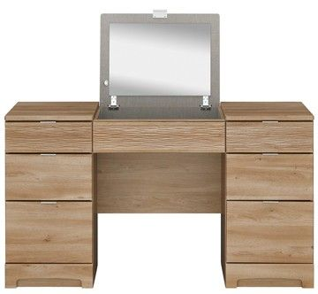 Ocean Oak Double Pedestal Dressing Table With Mirror Cood1088 343 90