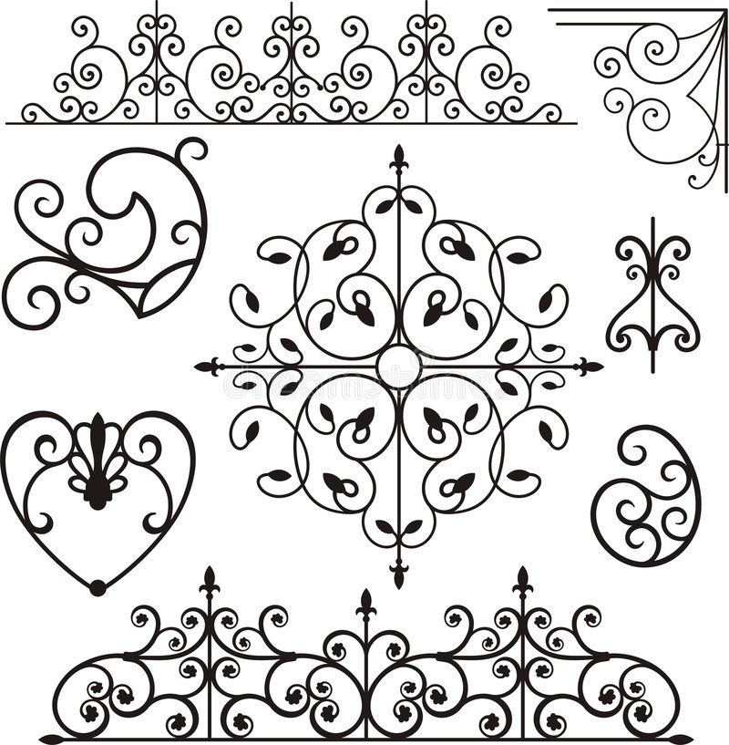 Wrough Iron Ornaments Royalty Free Stock Photos Image 3739608 Rolled Paper Art Wrought Iron Iron Decor