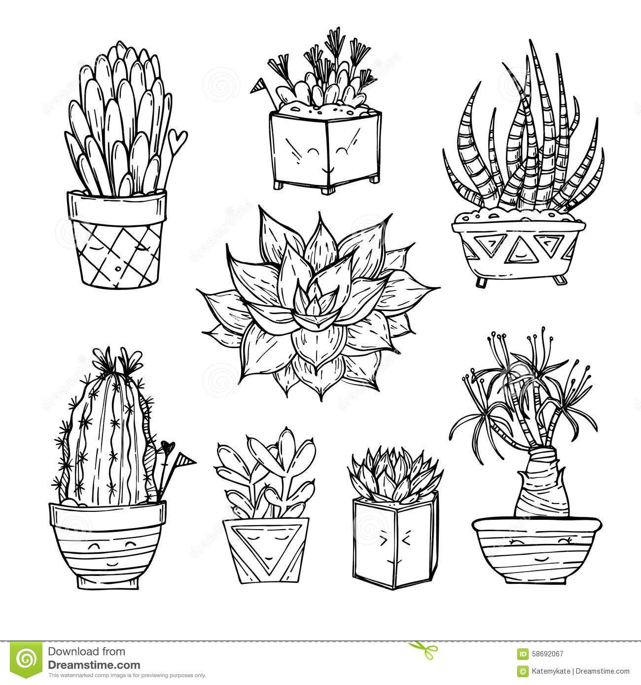 potted fern drawing clipart Google Search Proyecto
