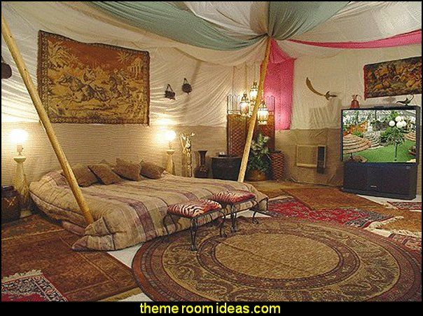 Moroccan Theme Aladdins Theme Bedroom Decorating Ideas Tent Style .
